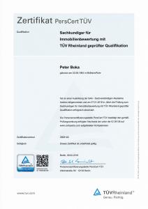 2019 - Sachkundiger für Immobilienbewertung mit TÜV Rheinland geprüfter Qualifikation